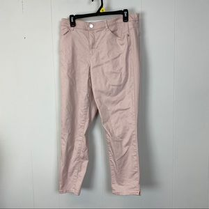 Wit & Wisdom Pink High Waist Ankle Skinny Pants